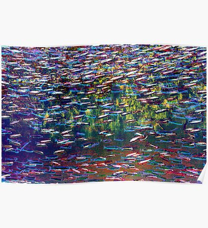 Underwater Abstract Gallery - Piece 3 (Impressionistic) Poster