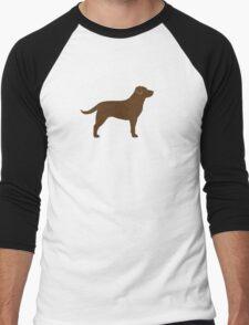 Chocolate Labrador Retriever Men's Baseball ¾ T-Shirt