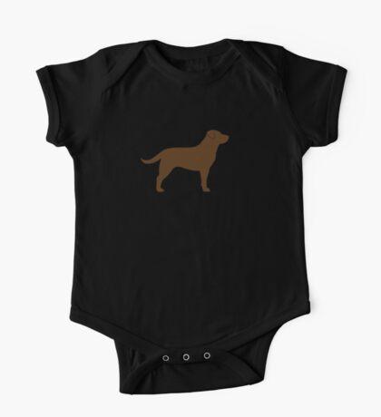 Chocolate Labrador Retriever Silhouette(s) One Piece - Short Sleeve