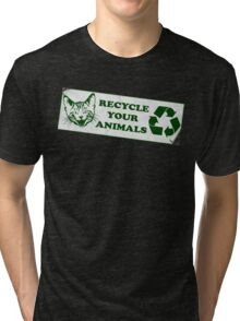 Please recycle your animals Tri-blend T-Shirt