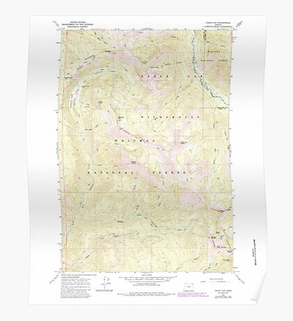 USGS Topo Map Oregon China Cap 279344 1965 24000 Poster