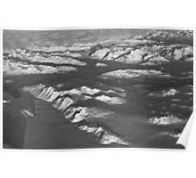 Glacier Bay in Black & White Poster