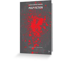 No067 My Pulp Fiction minimal movie poster Greeting Card