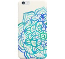 Watercolor Medallion in Ocean Colors iPhone Case/Skin