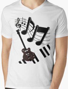 Musical Matrix Mens V-Neck T-Shirt