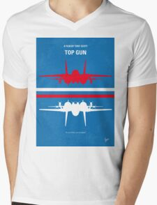 No128 My TOP GUN minimal movie poster Mens V-Neck T-Shirt