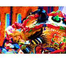 Dragon on fire Photographic Print