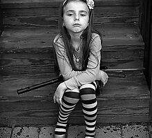 Girl with Toy Gun by aphotogirl