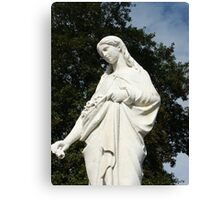 Serene Virgin Mary Canvas Print