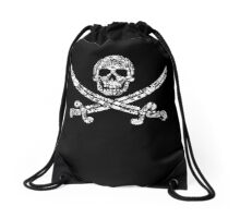 Pirate Service Announcement Drawstring Bag