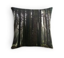 Neptune Beach....Forest Side...Yachats, Ore. Throw Pillow