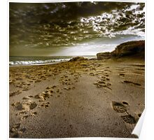 Beach walkers Poster