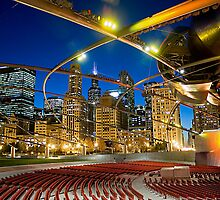 Chicago Park at night by Patrick  Warneka