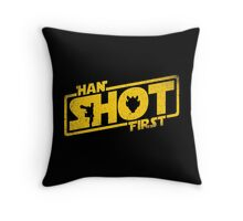Han Shot First Throw Pillow