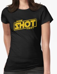 Han Shot First Womens Fitted T-Shirt