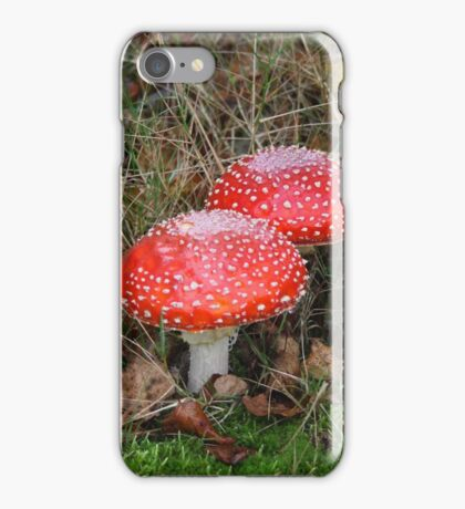 A Closer Look to Three Amanita muscaria iPhone Case/Skin