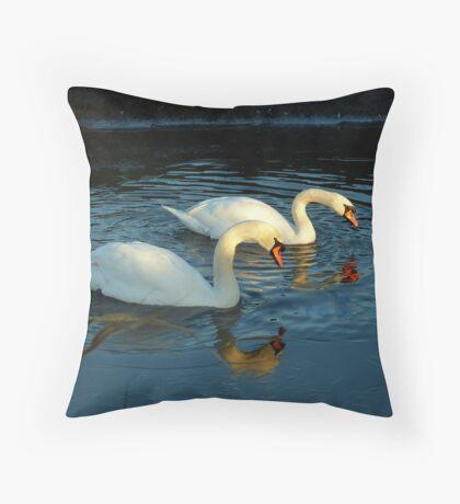 Mute swans Throw Pillow