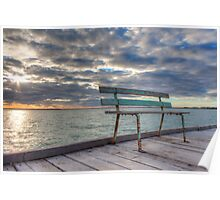 Weathered Bench - Port Germain Poster