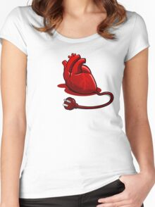Unplug your heart Women's Fitted Scoop T-Shirt