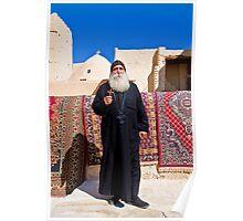 Egypt. Monastery of St.Anthony. Coptic Monk. Poster