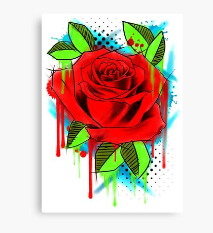 Water Color Rose Canvas Print