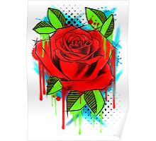 Water Color Rose Poster