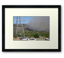 Bush fire in the hills 'Black Sunday' Framed Print