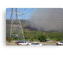 Bush fire in the hills 'Black Sunday' Canvas Print