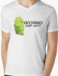 Android - Just do it! Mens V-Neck T-Shirt