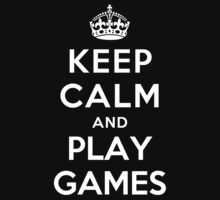 KEEP CALM AND PLAY GAMES Kids Clothes