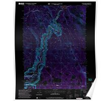 USGS Topo Map Oregon Chicken Hills 279330 2001 24000 Inverted Poster