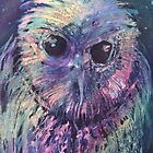 Watercolour: Wizard Owl by Marion Chapman