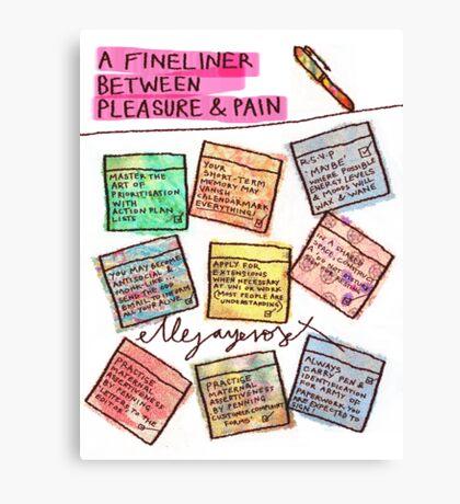 Pregnancy: Fineliner between Pleasure & Pain Canvas Print