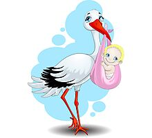 stork Photographic Print