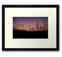 Minnesotan Sunset Framed Print