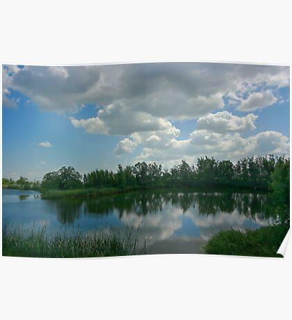 Canadian Farm pond Poster
