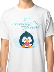 "PENGUIN ""you warm my heart"" Classic T-Shirt"