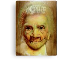 "follow up to ""Grandmother"" (97 yrs old) Canvas Print"