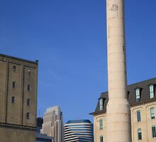 Minneapolis Smokestack by Frank Romeo