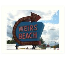 Weirs Beach Neon Art Print
