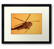 Fire Helicopter IR Framed Print
