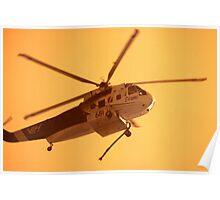 Fire Helicopter IR Poster