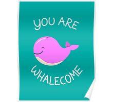 Whale, thank you! - Pink Version Poster