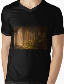 Morning forest Mens V-Neck T-Shirt