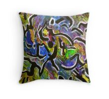 Byzantine Blues Throw Pillow