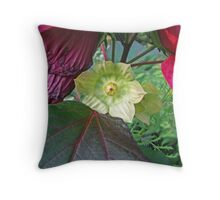 Fading Hibiscus Throw Pillow