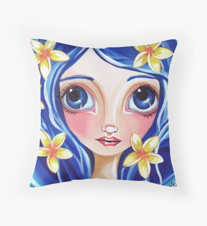 """Frangipani Fairy"" Throw Pillow"