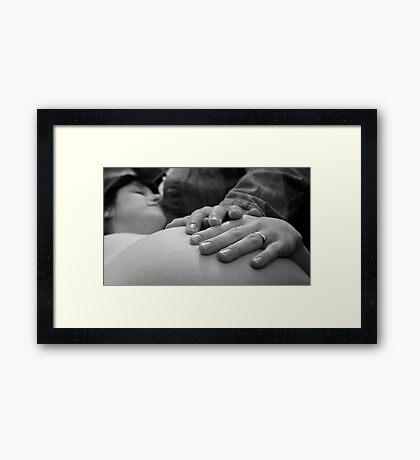 loving hands Framed Print