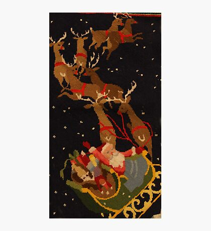 Santa and his reindeer Photographic Print