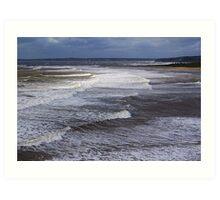 Surf On a Sandy Shore Art Print